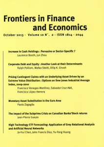 Frontiers in Finance and Economics