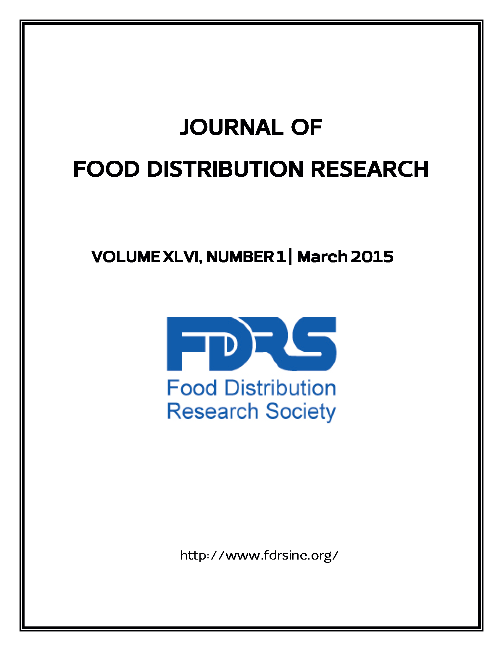 Journal of Food Distribution Research