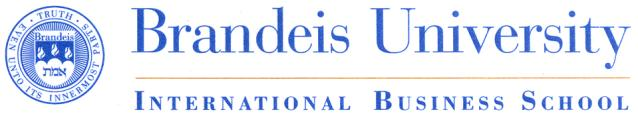 Brandeis University International Business School IBS Operations Research Position