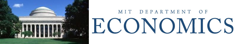Massachusetts Institute of Technology, Department of Economics Assistant Professor Search